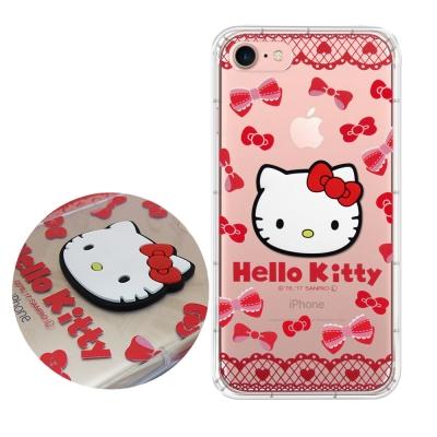 正版授權 Hello Kitty iPhone 7 立體大頭空壓手機殼(蕾絲凱蒂...