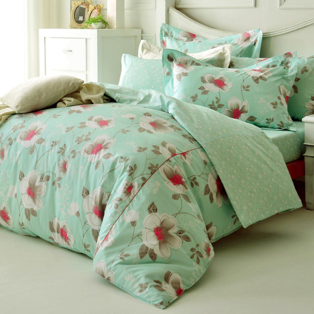 Tonia Nicole東妮寢飾綠意莊園精梳棉兩用被床包組(特大)
