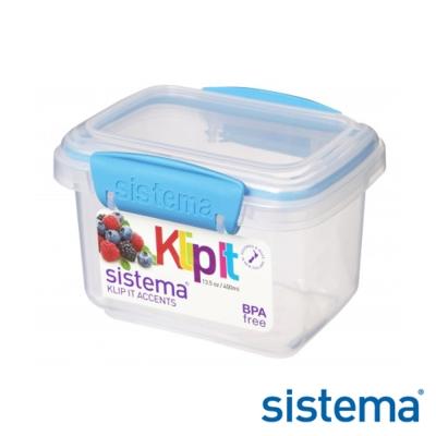【Sistema】紐西蘭進口長方型收納扣式保鮮盒400ml