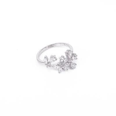 Ace-it-Boutique-純銀不對稱花朵戒指