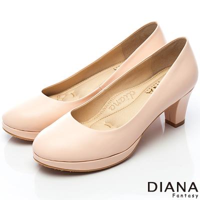 DIANA-超厚切焦糖美人E款-第二代素面真皮制鞋