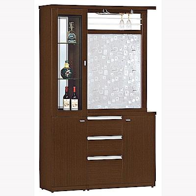 H&D 胡桃4尺雙面櫃-反向 (寬120X深39X高198cm)