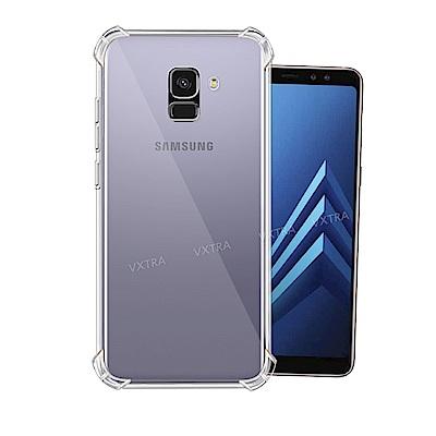 VXTRA Samsung Galaxy A8+(2018) 四角防護防摔空壓氣...