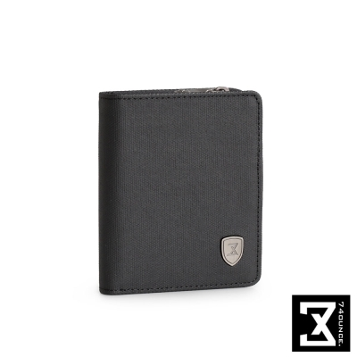 74盎司 FIT 時尚三折短夾(零錢袋)[N-510]黑