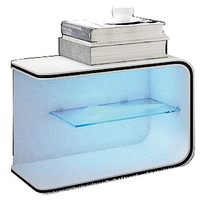 AT HOME-保羅LED 床頭櫃(50*45*44cm) -二色可選
