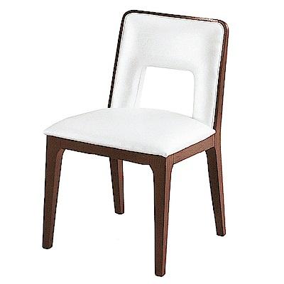 AS-阿爾娃白色皮面餐椅-46x47x81cm