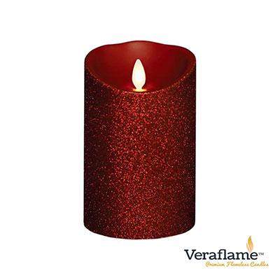 Veraflame 擬真火焰搖擺蠟燭-酒紅蔥