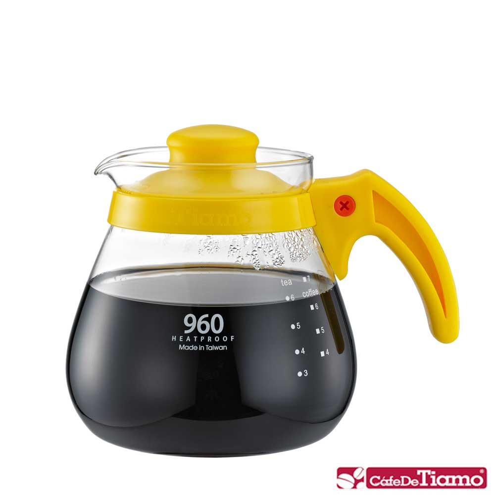 Tiamo 耐熱玻璃壺960cc-五色