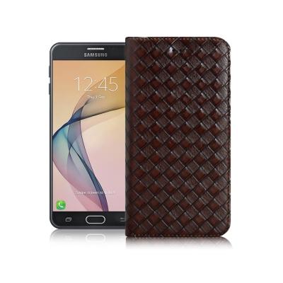 XM Samsung Galaxy J7 Prime 魔幻編織磁吸支架皮套
