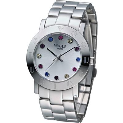 VOGUE 維多利亞奢華時尚腕錶-銀/36mm