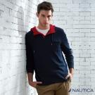Nautica 青春不羈百搭撞色長袖帽TEE-紅藍