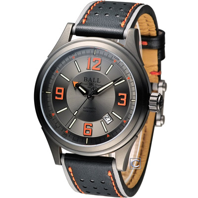 BALL WATCH Engineer 隱形戰機 機械腕錶-黑x橘/43mm