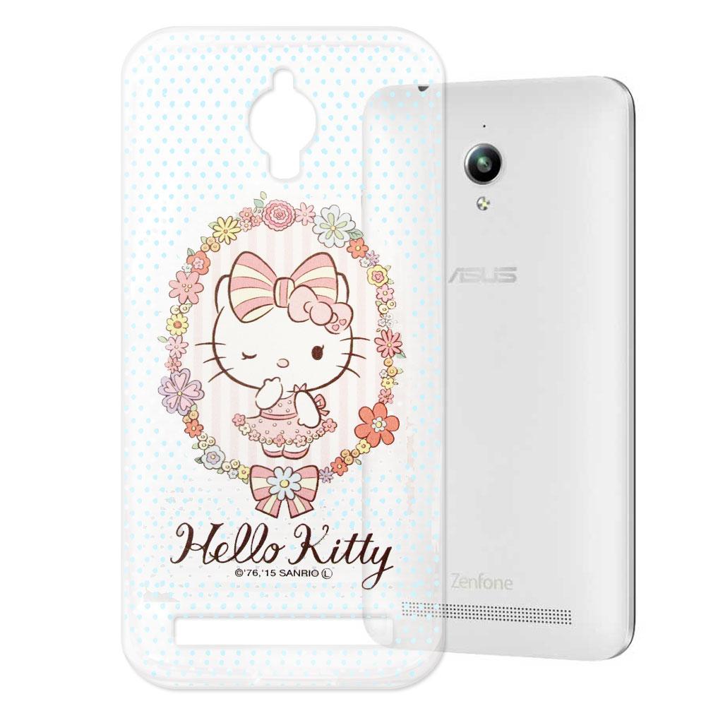 Hello Kitty Asus Zenfone GO 透明軟式手機殼 花邊款