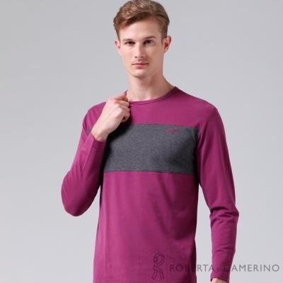 ROBERTA諾貝達 台灣製 超柔軟 禦寒保暖 長袖POLO棉衫 深紫
