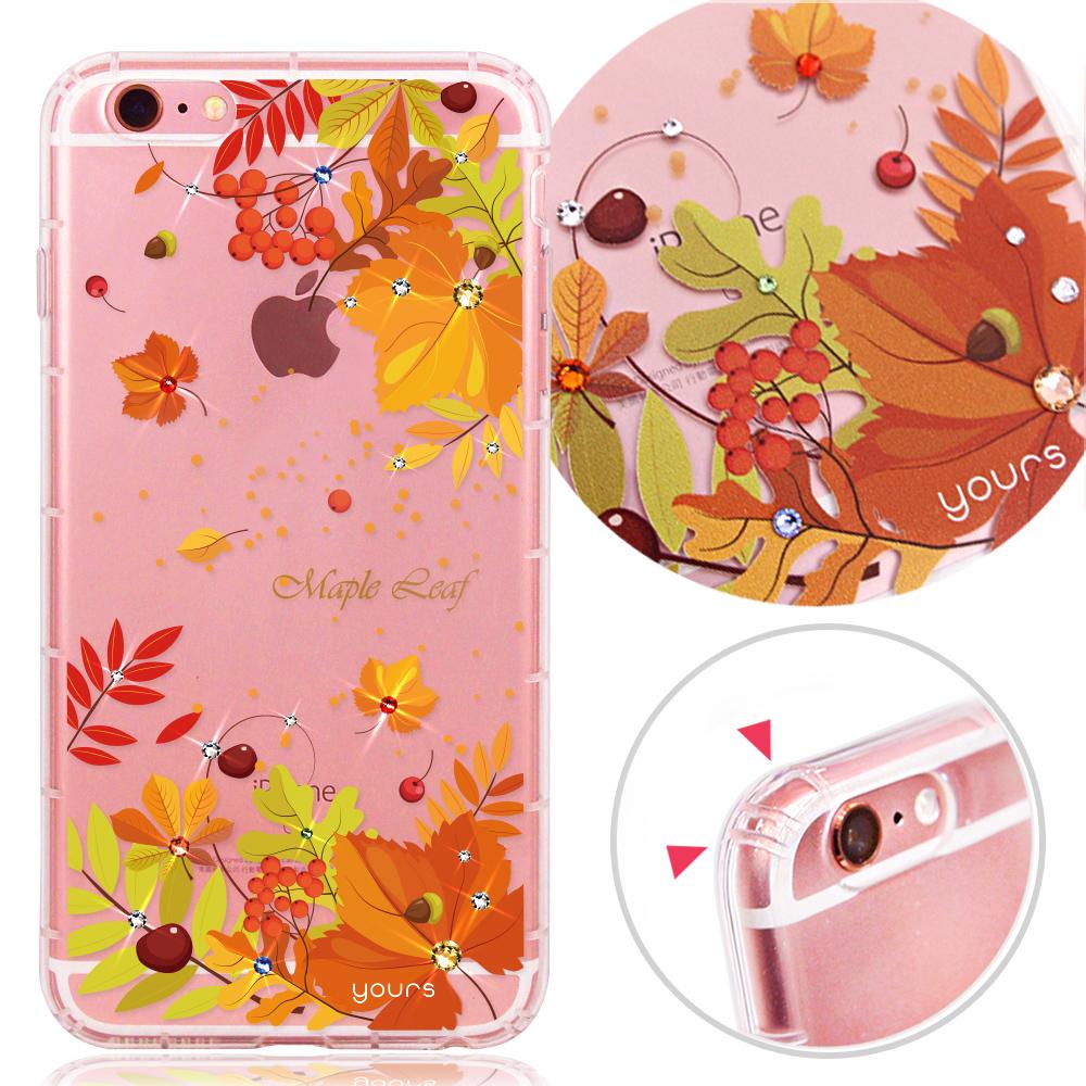 YOURS APPLE iPhone6s Plus 奧地利水晶彩繪防摔氣墊手機鑽殼-楓之谷