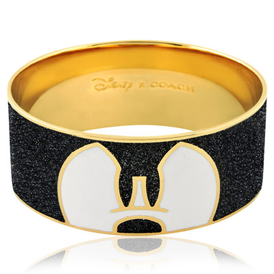 COACH-Disney米奇琺瑯設計寬版手環