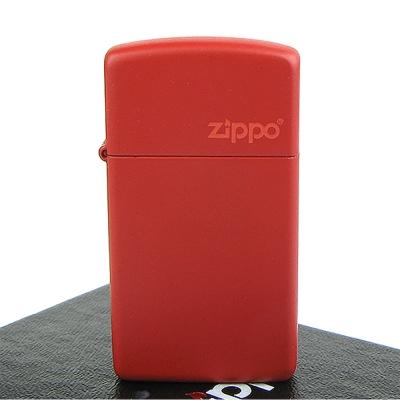 【ZIPPO】美系~LOGO字樣打火機~RED MATTE 紅色烤漆