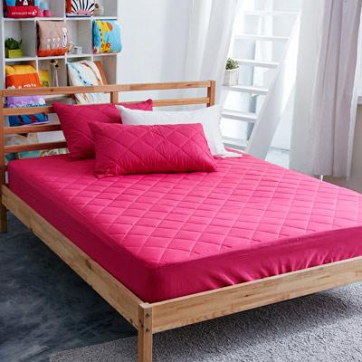美夢元素 繽紛馬卡龍保潔床墊-單人〈 野莓紅〉