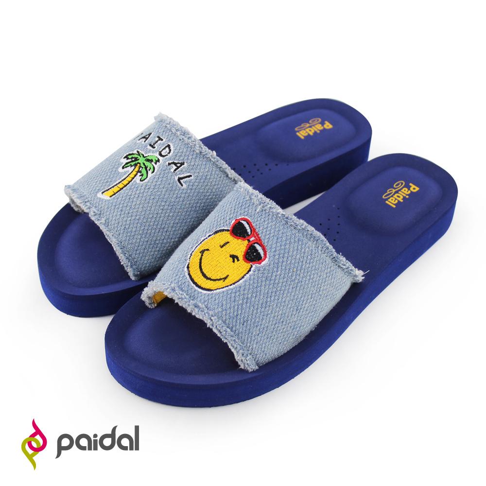 Paidal微笑渡假村一片式厚底氣墊拖鞋