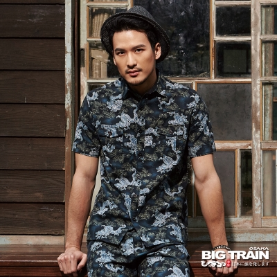 BIG TRAIN 武骨風潮襯衫-男-黑色