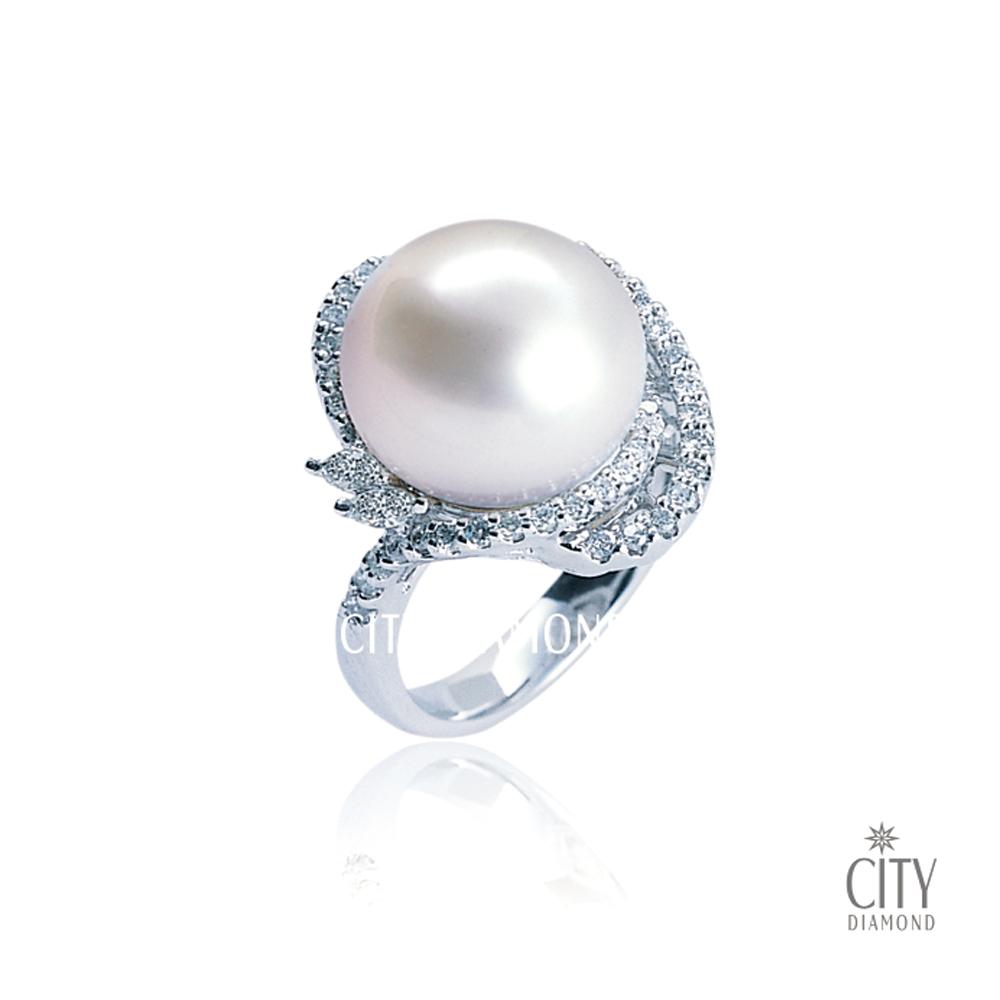 City Diamond『普羅旺斯』珍珠鑽戒