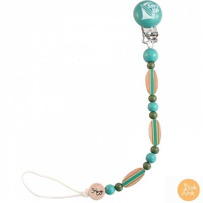 Bink Link 湖水藍時尚繽紛串珠奶嘴鍊夾