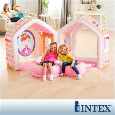 INTEX 公主遊戲小屋/充氣小屋-附充氣椅組 (48635)