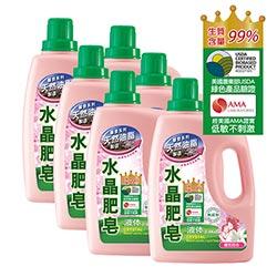 南僑水晶肥皂洗衣液体2.4kg x6/箱-櫻花百合