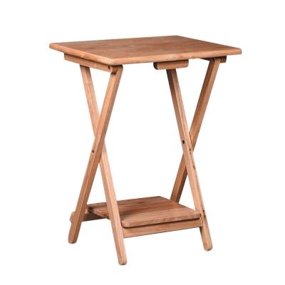 Bernice-Adan全實木可折式邊桌(兩色可選)-48x39x65cm
