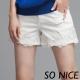SO NICE蕾絲花朵造型短褲