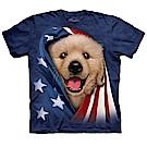 摩達客 美國進口The Mountain 愛國小黃金獵犬 純棉環保短袖T恤