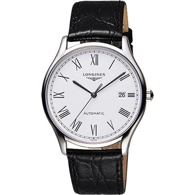 LONGINES 浪琴 Lyre琴韻系列羅馬機械腕錶-白/38mm