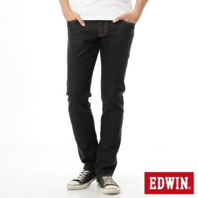 EDWIN 窄直筒503ZERO無接縫牛仔褲-中性-黑