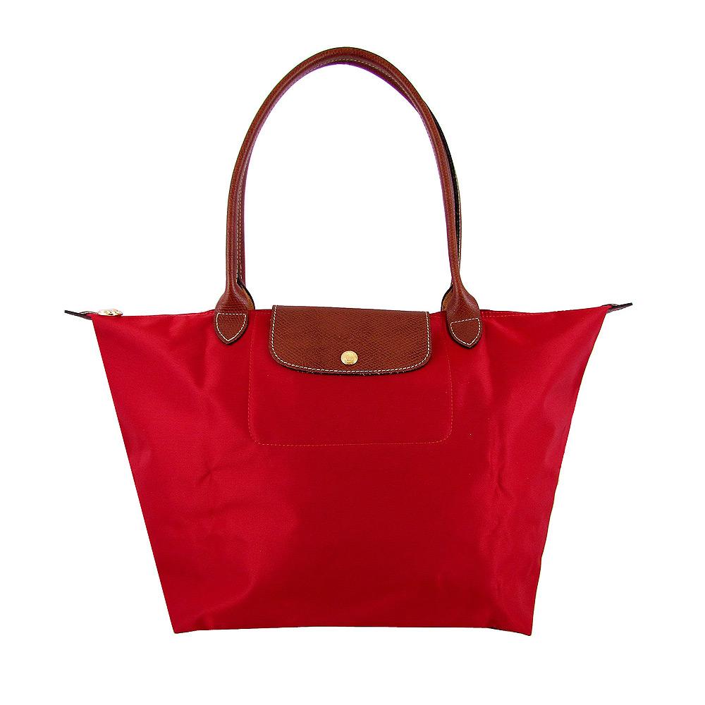 Longchamp長背帶折疊水餃包(紅色/小)