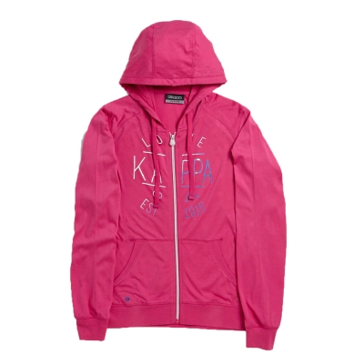 KAPPA義大利女針織慢跑外套~櫻桃紅