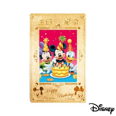 迪士尼金飾 Disney迪士尼黃金生日紀念相片 0.3錢