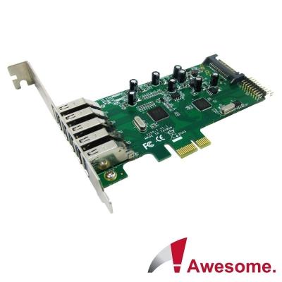 Awesome PCIe 7埠USB3.0 I/O卡-AWD-1100LE-7