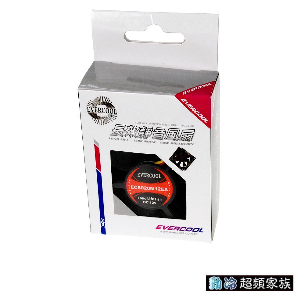 EVERCOOL勁冷超頻家族 6公分長效靜音系統風扇(厚度20mm)