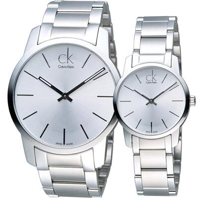 Calvin Klein  純粹愛戀時尚對錶(K2G21126 K2G23126)白