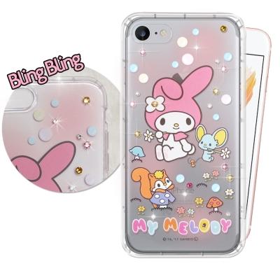 正版美樂蒂 iPhone 8/iPhone 7 施華洛世奇 彩鑽氣墊保護殼(泡泡...