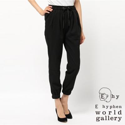 E-hyphen-斜紋抽繩設計束口褲
