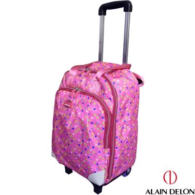 ALAIN DELON 可拆式多功能拉桿旅行袋(粉紅點)