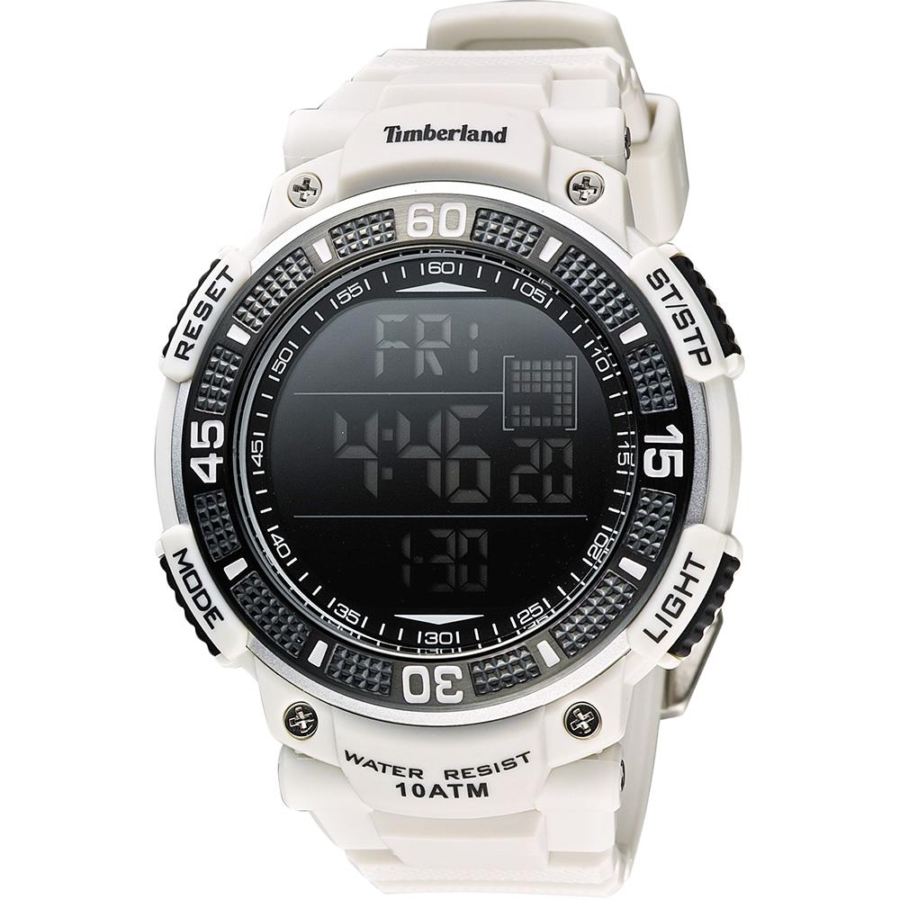 Timberland CADION系列多功能數位腕錶-白50mm