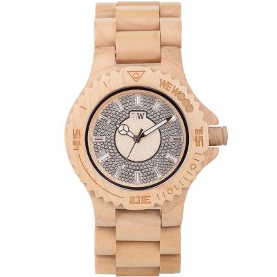 WEWOOD 義大利水鑽木頭錶 SARGAS BEIGE-楓木/42mm
