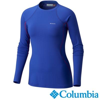 Columbia哥倫比亞 女款-保暖快排長袖上衣-靛藍色 UAL67630KF