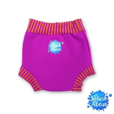 《Splash About 潑寶》游泳尿布褲 - 桃紅 / 橘紅條紋