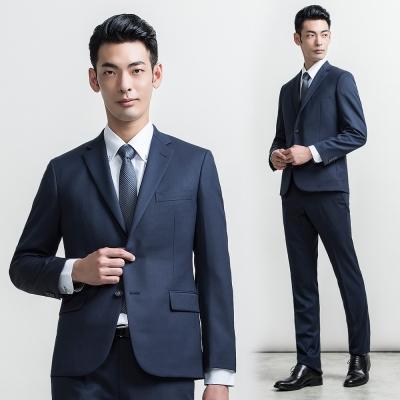 per-pcs 商務質男毛料經典素面款西裝外套_藍(815303)