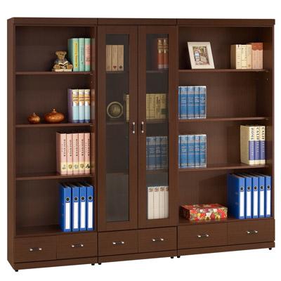 時尚屋6.6尺胡桃書櫃寬200cm