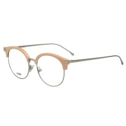 FENDI  復古眉框圓框 光學眼鏡 (粉膚色)FF0165
