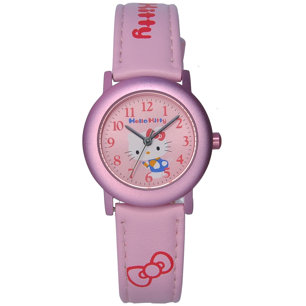 HELLO KITTY 凱蒂貓 俏皮時尚腕錶-粉-30mm